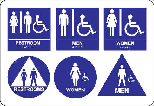 Bathroom Signs With Braille signs on time, inc. - roseville ada signs - phenolic braille
